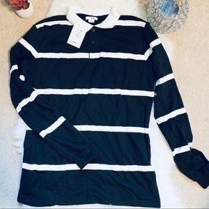 Fashion Nova long sleeve men's polo